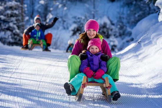 Rodeln - Winterurlaub - Radstadt - Ferienwohnung - Zeitgenuss - Salzburger Land